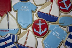 nautical baby-  change a couple of letters and perfect.  but way too much work!