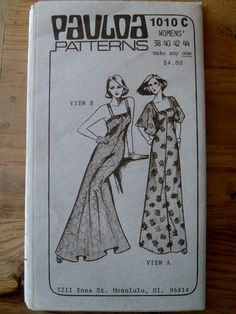 Vintage Pauloa 1010C Pattern Hawaiian Dress in by LagunaLane, $10.00