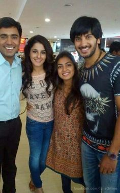 Isha Talwar With Nivin Pauly Nazriya Nazim and Dulquer Salmaan