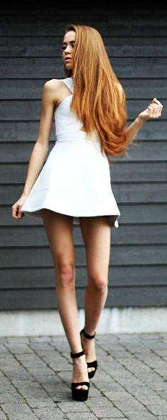 Criss Cross Skater Dress Summer Style