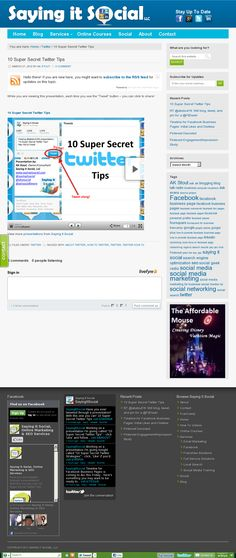 10 Super Secret Twitter Tips   Have you ever tweeted through a presentation? With this one you can! Wondering what the heck I'm talking about? You'll just have to view it to find out! http://sayingitsocial.com/10-super-secret-twitter-tips/