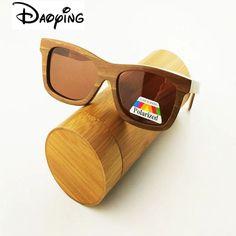 DAOYING 2017 skateboard wood sunglasses for men styles vintage hand made wood eyewear polarized lens LUB141 free shipping