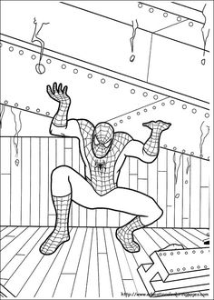 Spiderman Coloring Book Pages Kid stuff Pinterest Spiderman