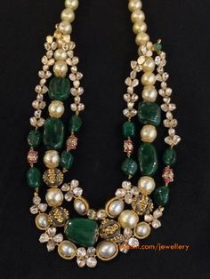 Uncuts and Emerald Necklace by Aarish