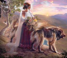Тhe guardians of the Balkan, Kaloyan Stoyanov Folk Clothing, Beautiful Drawings, Renaissance Art, Folklore, Art Sketches, Mythology, Science Fiction, Coloring Pages, Cute Animals