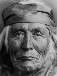 Portrait of Elderly Native American Navajo Man: 24x18 Photographic Print