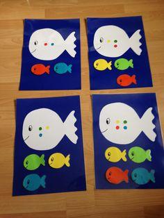 sorteerspel: klein wit visje