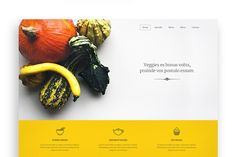 Veggie One Page PSD Template