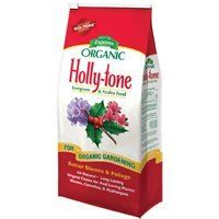 Espoma HT8 Holly-Tone 4-3-4, 8 Pounds by Espoma. $9.66. No mixing, no mess; environmentally safe. The original acid loving plant food. Brown seaweed, harvested from cold waters then processed at low temperatures and dried. Holly-Tone 4-3-4. Add organic matter to soil. Long lasting natural organics break down slowly for steady continuous feeding. Contain all 15 essential nutrients for beautiful and healthy gardens. Add organic matter to soil. Safe, low in salts so it wont bur...