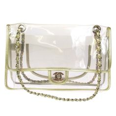 CHANEL Clear Vinyl Leather Vintage
