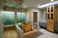 salle bain zen traditionnelle baignoire rectangulaire