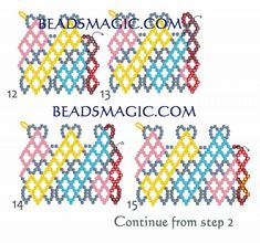 Free pattern for necklace Circus (Beads Magic) Free Beading Tutorials, Beading Patterns Free, Free Pattern, Diy Necklace Patterns, Beaded Jewelry Patterns, Beaded Crafts, Necklace Tutorial, Bead Jewellery, Beads And Wire