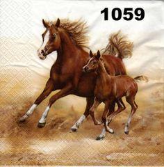 Serwetki do decoupage-2szt-KONIE- NR 1059