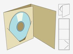 Image result for cd packaging template                                                                                                                                                                                 Más
