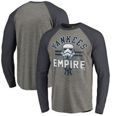 55dc2e627a4 New York Yankees Fanatics Branded MLB Star Wars Empire Raglan Long Sleeve T- Shirt –