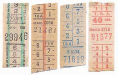 Vintage bus tickets!
