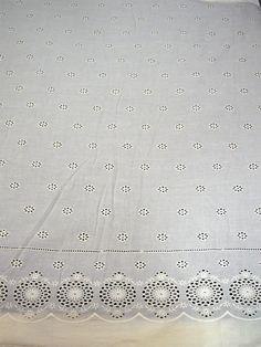 Weiß Öse gestickte Baumwollgewebe mit Rand von Indianlacesandfabric