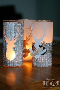 24 étiquettes cadeau de Noël-embelli sur front-Santa Hibou bonhomme de neige Renne 590
