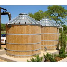 Fully assembled and engineered wood wrapped water tank for rainwater collection or well supplementation. Functional or decorative use as a landmark or signage for wineries, breweries, farms and event venues. Earth Dome, Water Catchment, Mushroom Cultivation, Water Storage Tanks, Water Collection, Rain Barrel, Water Tower, Water Tank, Water Features