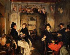 John Singer Sargent, Venetian Wineshop, 1898