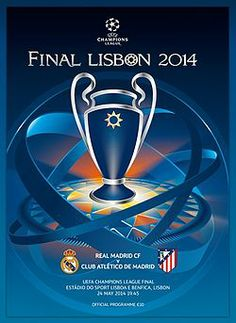 Real Madrid 4 At. Madrid 1 aet in May 2014 in Lisbon. The programme cover for the Champions League Final. Liverpool Memes, Liverpool Logo, Anfield Liverpool, Liverpool Soccer, Football Ticket, Football Program, Football Match, Football Kits, Stadium Of Light