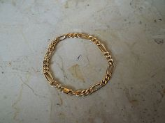"""9ct gold figaro #bracelet 8"""" in #length 3.5g fully #hallmarked. 375 gold #bracelet,  View more on the LINK: http://www.zeppy.io/product/gb/2/291722245340/"""
