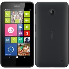 "Smartphone Lumia 630 Dual Chip Preto Tela 4.5"", 3G+WiFi, Windows Phone 8.1, Câmera5MP, Memória Interna 8GB, TV Digital - Nokia"