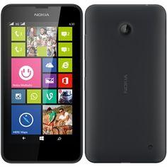 """Smartphone Lumia 630 Dual Chip Preto Tela 4.5"""", 3G+WiFi, Windows Phone 8.1, Câmera5MP, Memória Interna 8GB, TV Digital - Nokia"""