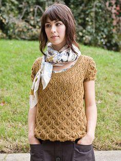 lace blouse, unblocked. a very fun stitch pattern!