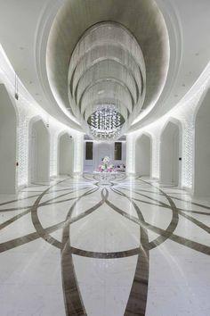 Al Rufaa Celebration Hall Complex in Doha, Qatar. Hand blown and cut glass adorn five ceremonial halls, six vestibules, a social room and all the corridors. Crystal Light Fixture, Light Fixtures, Long Lights, Vestibule, Cut Glass, Celebration, Chandelier, Ceiling Lights, Doha