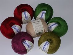 Rowan Cotton Glace Yarn 7 skeins  5 colors by creativemoments, $35.00
