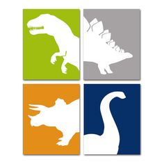 Childrens Dinosaur Nursery Art Prints   Pick 3  8x10 by AlleyKids, $42.00