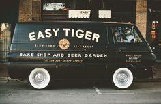 Typographic van.