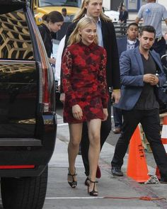 100 best dressed of 2014 - Chloe Moretz in a red Valentino mini dress.