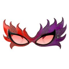Elope - Feather Mask Glasses (Red/Purple) - http://www.halloween.quick-reviews.com/6196/elope-feather-mask-glasses-redpurple.html