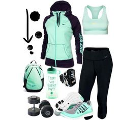 """Workout Mint"" by ke  ""Workout Mint"" by kerimcd on Polyvore...For when I ""work out""...lol"