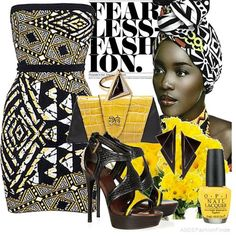 I love the African tribal touch! #tribal #ethnicfashion #africaninfluence