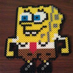 SpongeBob perler beads by twinsistercraft