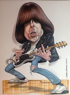 Johnny Ramone...GABBA GABBA HEY!...caricature by Larry Weber
