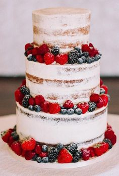 45 Simple, Elegant, Chic Wedding Cakes ❤ simple elegant chic wedding cakes cake with fruits baked_blessings #weddingforward #wedding #bride