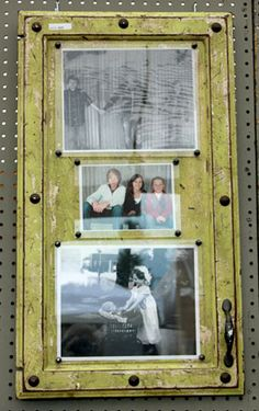 Vintage frames made from old cupboard doors from AboveAndBeyondHD.com