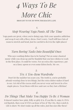 4 Easy Ways To Be More Chic | how to be chic french girl hair, french girl style, french girl names, french girl makeup, how to be chic, how to be parisian, madame chic, parisian style chic bedroom chic outfits chic fashion chic decor