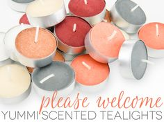 Yummi scented votives are now available in bite sized portions.