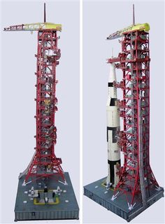 1:100 Scale Apollo Launch Umbilical Tower (LUT) Model Kit for Estes, Dragon 4D Vision or any 1:100 Saturn V Model