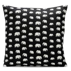 Discover high quality textiles at Svenskt Tenn. Svenskt Tenn has a wide range of beautiful textile patterns and materials. Elephant Pillow, Elephant Love, Elephant Pattern, Elephant Art, Restoration Hardware Cloud, White Couches, Textiles, Salon Style, Swedish Design