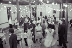 Having the reception in a room with all hard-wood floors means there's not an inch of space that can't be turned into a dance floor :)