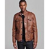 BOSS Orange Joaco Leather Field Jacket