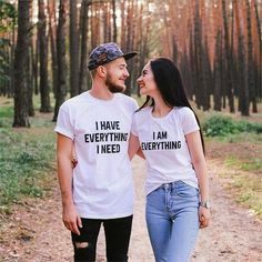 Couple slaying their personalized tees . Cute Couple Shirts, Couple Tees, Matching Couple Outfits, Matching Couples, Couple Clothes, Couples Assortis, Couples In Love, Love Shirt, T Shirt