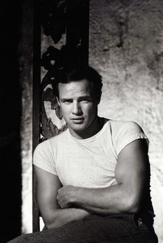 """Marlon Brando a.k.a. Vito Corleone from """"The Godfather"""" = One gorgeous man!"""