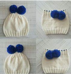 Baby Sweater & Cardigans Knitting Pattern Double Knit Inch - Dod Do Baby Knitting Patterns, Baby Hats Knitting, Crochet Baby Hats, Knitting For Kids, Crochet For Kids, Knitting Designs, Free Knitting, Knitted Hats, Crochet Patterns